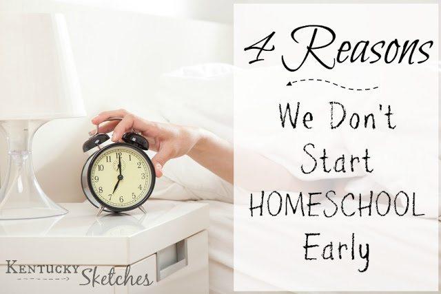 Hop 4 Reasons We Dont Start Homeschool Early