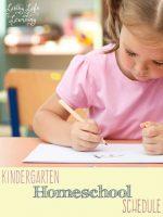 KindergartenHomeschoolSchedule