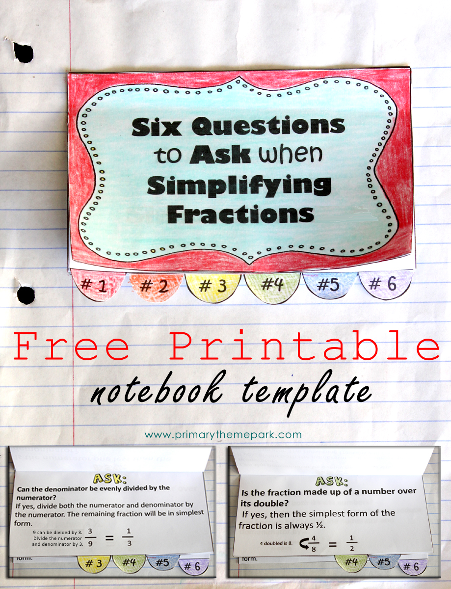 Genius image with simplifying fractions game printable