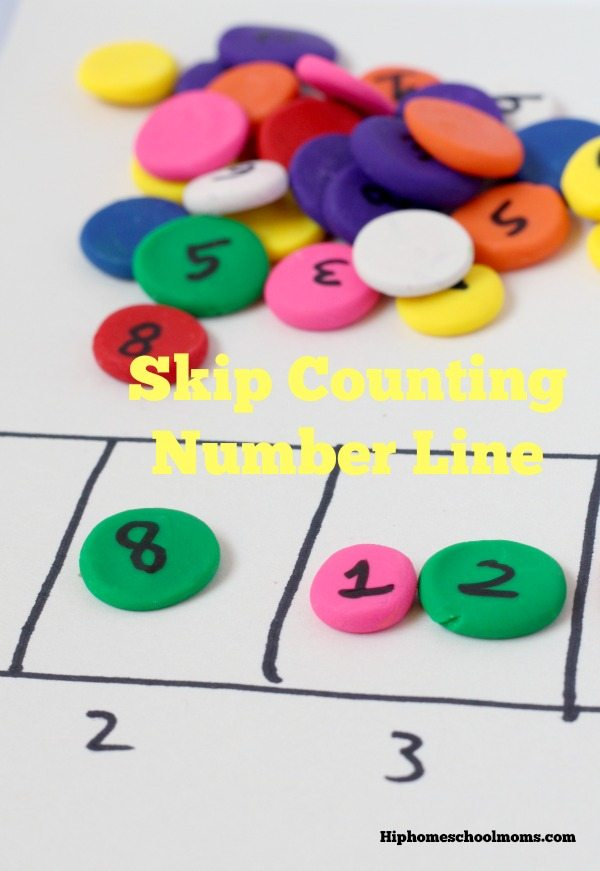 Children struggling with multiplication math facts? Use this super simple hands-on skip counting number line to make learning those boring facts fun!