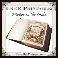 photograph regarding Pledge to the Bible Printable identify Free of charge Bible Printables Hip Homeschool Mothers