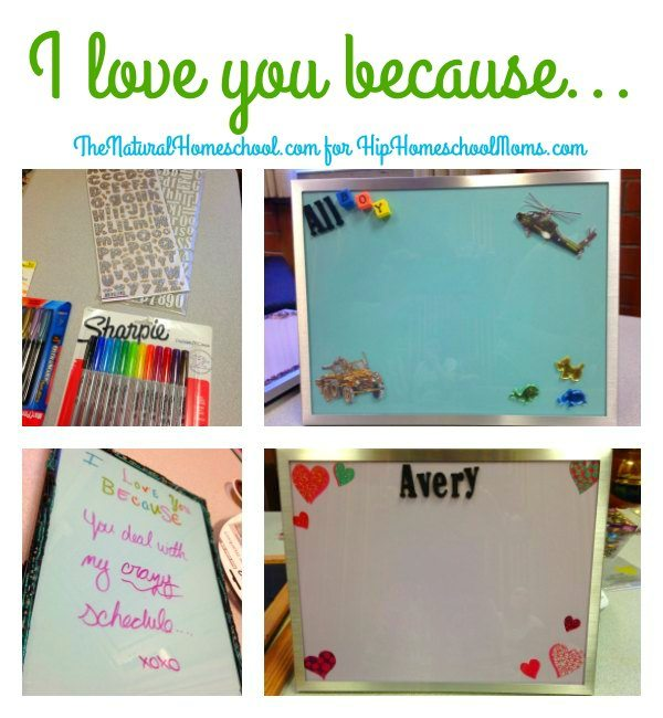 quoti love you becausequot list and craft tutorial hip