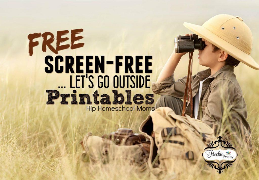 Free Printables for Screen Free Week April 2016