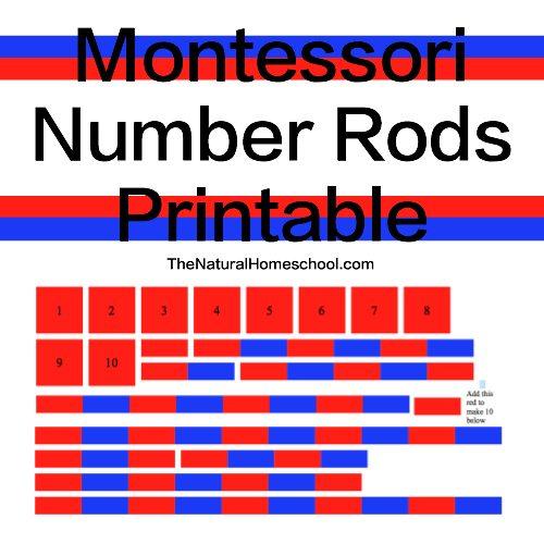 Montessori Number Rods Presentation Free Printable