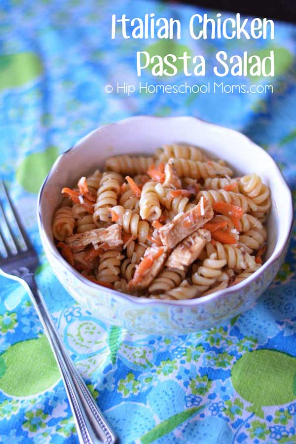 Italian Chicken Pasta Salad from Constance Smith at Hip Homeschool Moms
