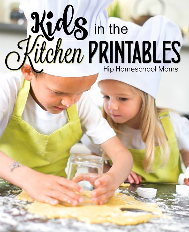Kids in the Kitchen Printables Pinnable Image