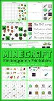 Minecraft-Kindergarten-Printables