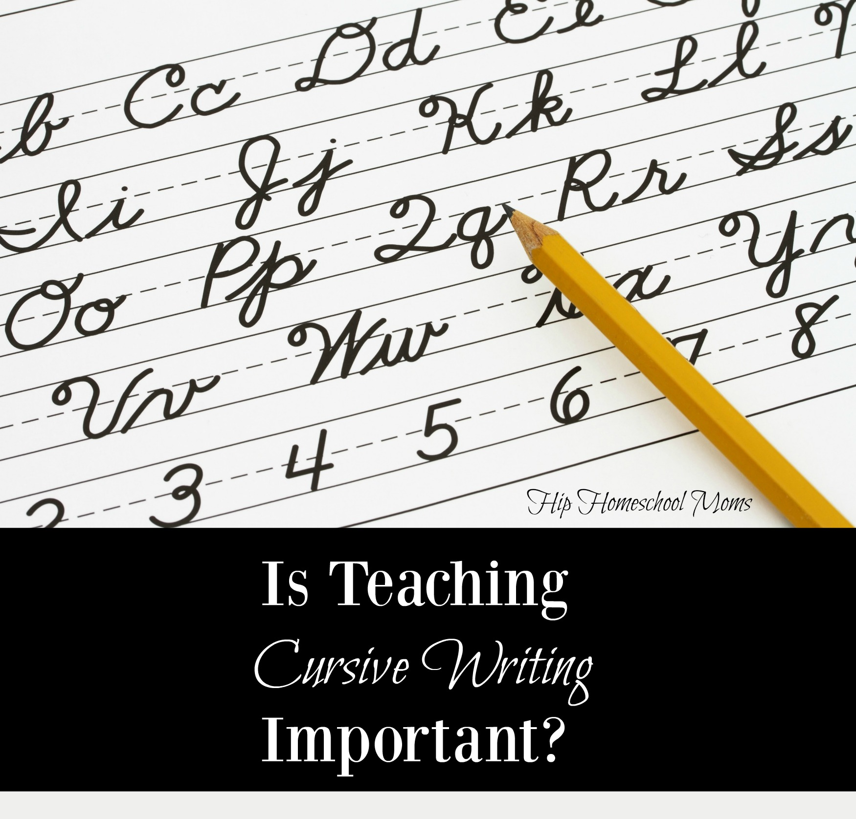 Teaching Cursive Writing -- Is it an important skill or just optional