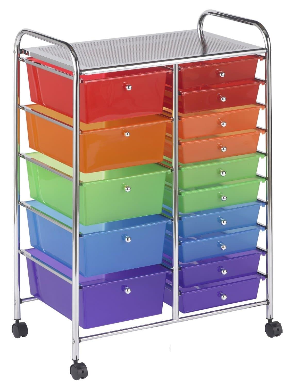 DEAL ALERT: 15 Drawer Mobile Organizer, Assorted Colors   31% Off! | Hip  Homeschool Moms
