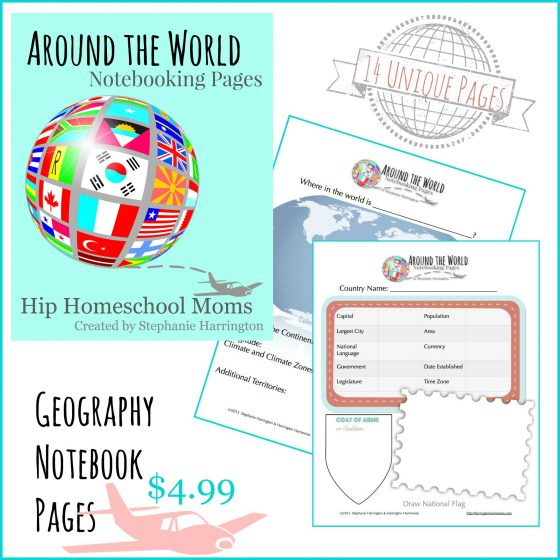 Around the World Notebook Pages