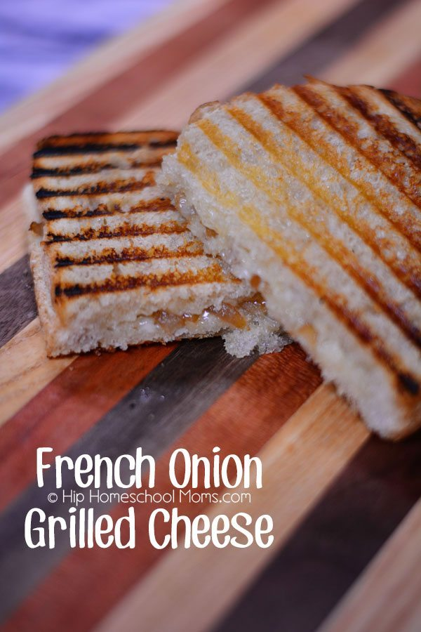 French Onion Grilled Cheese from Hip Homeschool Moms