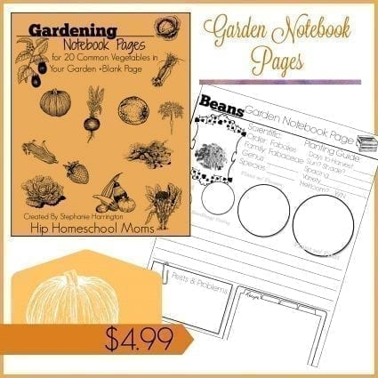 Garden Notebook Pages