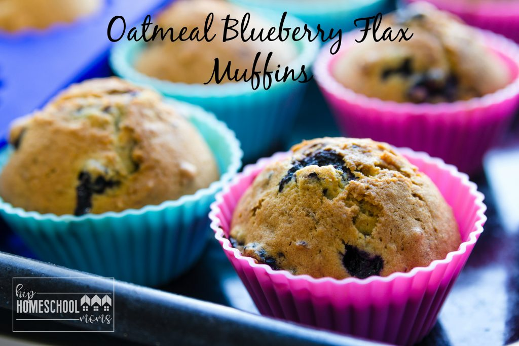 You'll enjoy this delicious recipe for oatmeal blueberry flax muffins!