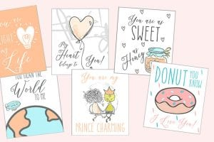 set of valentines from wife to husband
