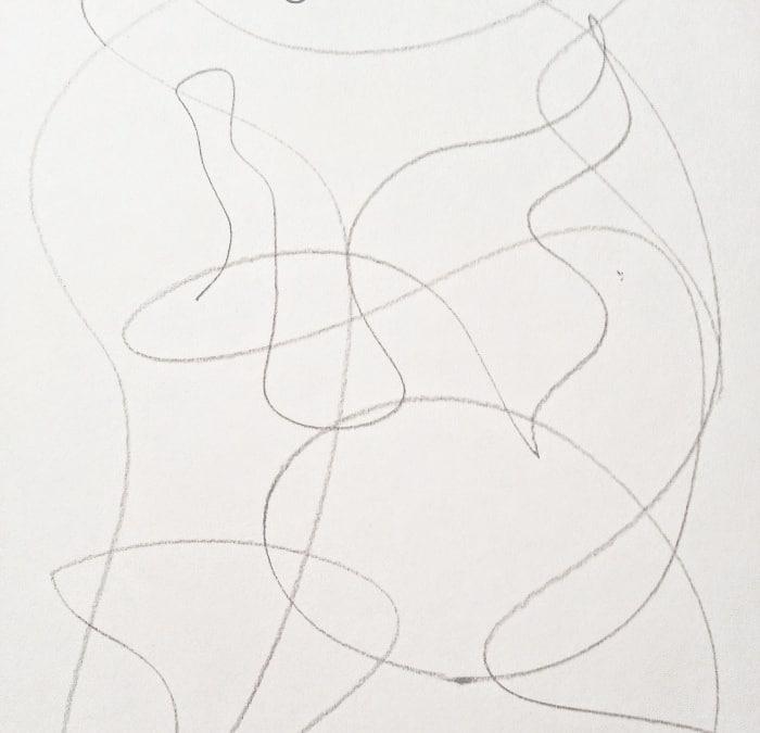 scribble art monster step 1