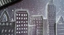 Snowy Cityscape Art Activity