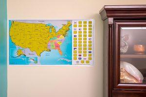 LIGHTNING DEAL ALERT Scratch Off World US Travel Tracker Map Set - Us map travel tracker