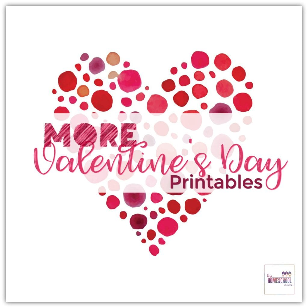 graphic regarding Happy Valentines Day Printable called Far more Valentines Working day Printables Hip Homeschool Mothers