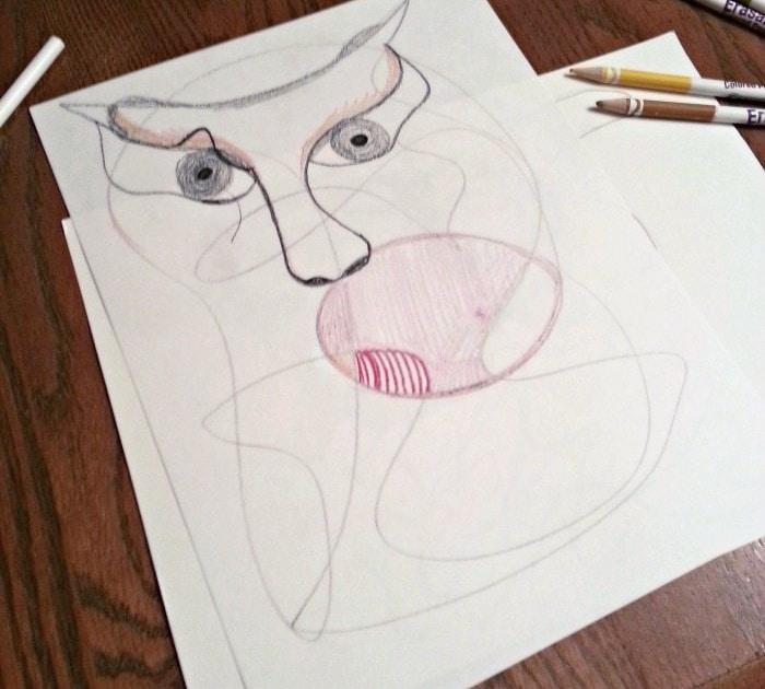 scribble art step 2