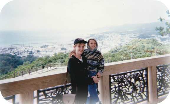 Picture of the author and her son in 1996.