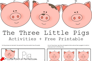 Fairy tale activities and ideas for kids hip homeschool moms for The three little pigs puppet templates