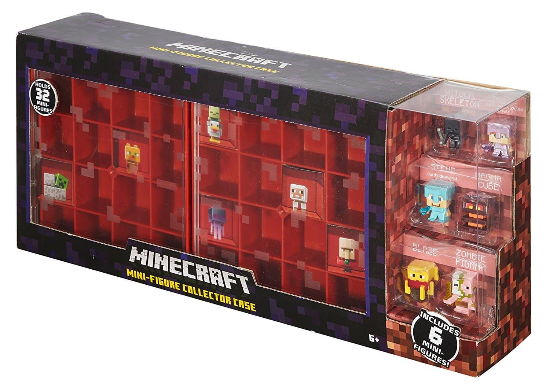 New Minecraft Mini-Figure Collector Case Explore The World with 10 Mini-Figures