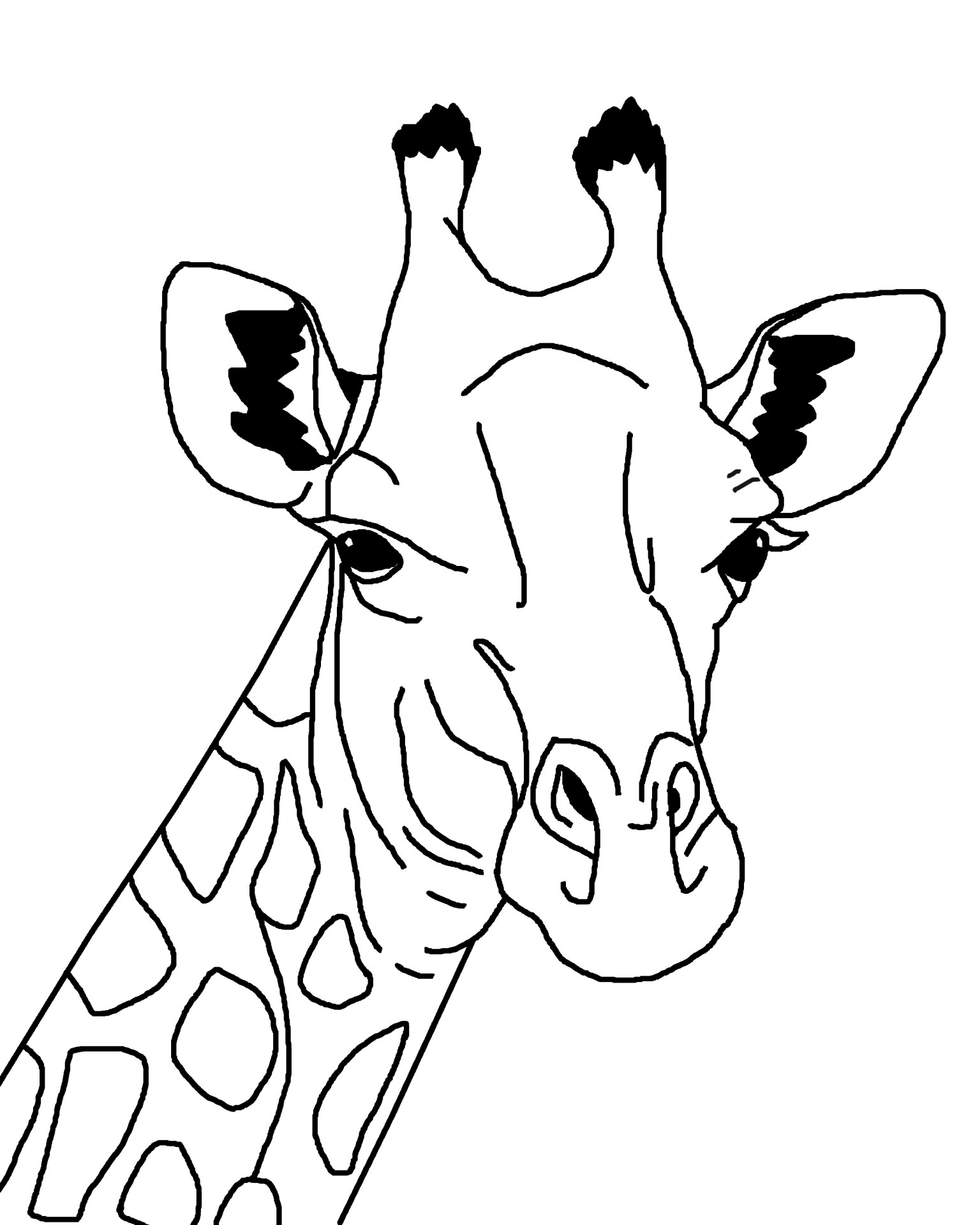 giraffe coloring page - Giraffes Coloring Pages