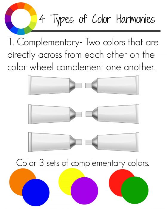 Complementary Color Harmonies Page