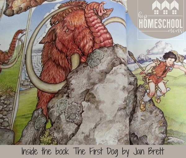 Inside the book First Dog by Jan Brett