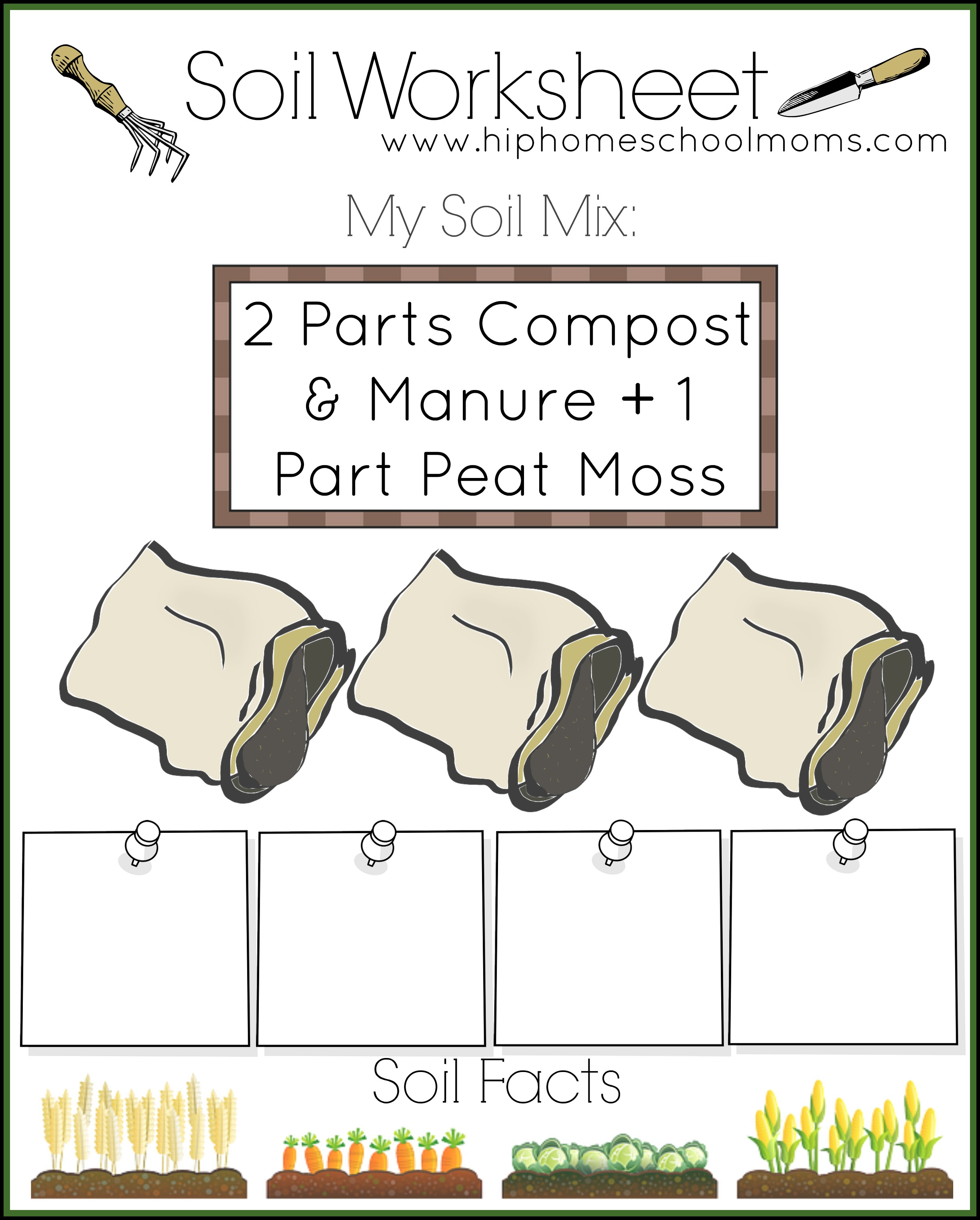 Free garden planner for kids hip homeschool moms for Different types of soil for kids