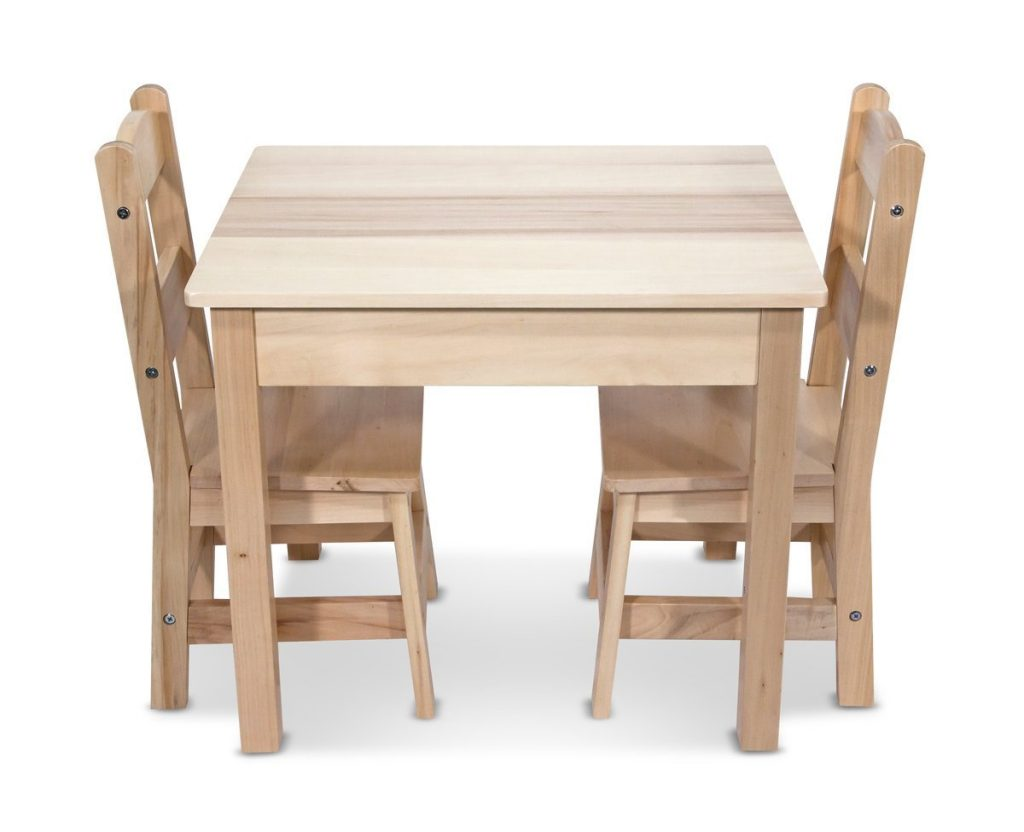 LIGHTNING DEAL ALERT! Melissa & Doug Solid Wood Table and 2 Chairs ...