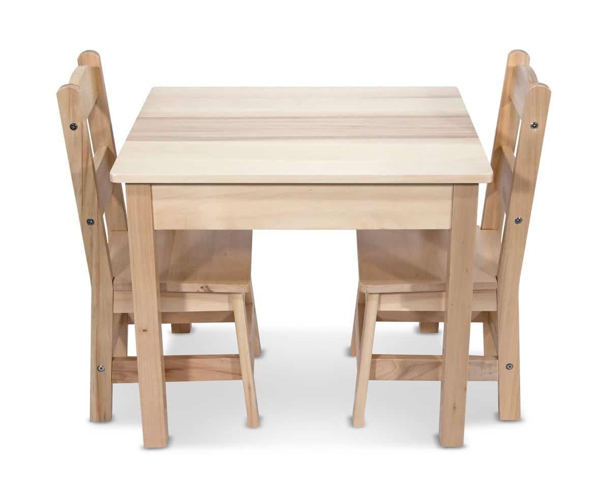 Melissa U0026 Doug Solid Wood Table And 2 Chairs Set   42% Off!   Hip  Homeschool Moms