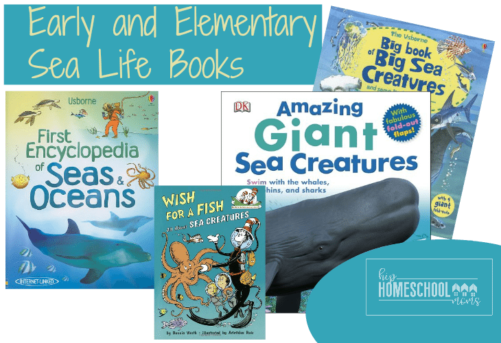 Your students will love this big list of sea life books! |Hip Homeschool Moms