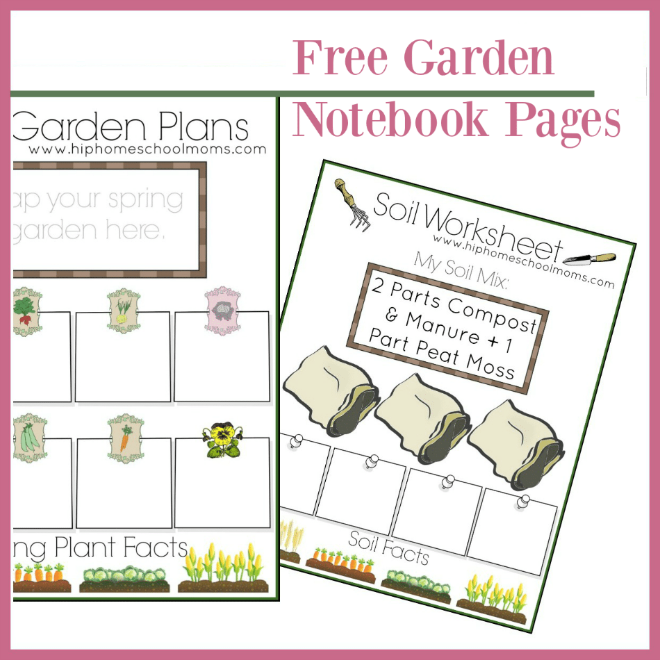 photo regarding Free Printable Garden Planner named Totally free Backyard garden Planner for Small children Hip Homeschool Mothers