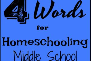 4 words for you to remember if you're homeschooling middle school.