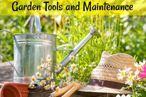 Tips and information for children about garden tools and maintaining a garden.