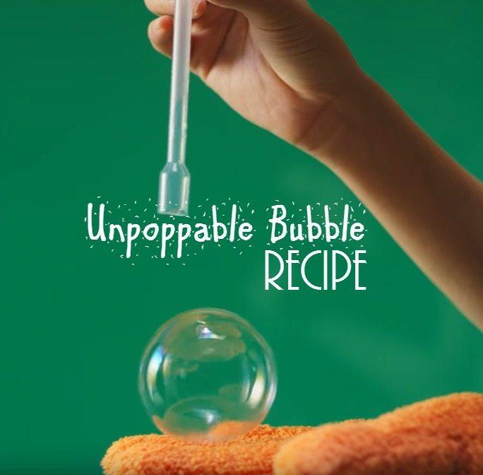 unpoppable bubble