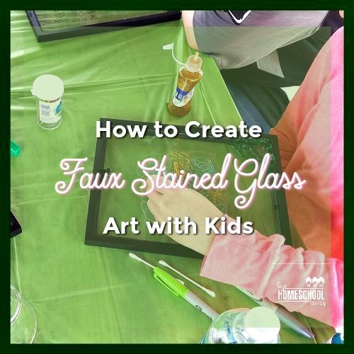 hand painting glitter on glass