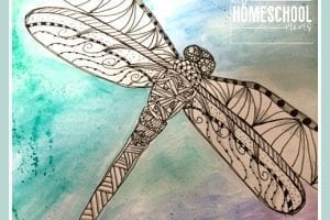 Zentangle Dragonfly Art | Hip Homeschool Moms