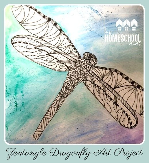 Zentangle Dragonfly Art | Hip Homeschool Moms