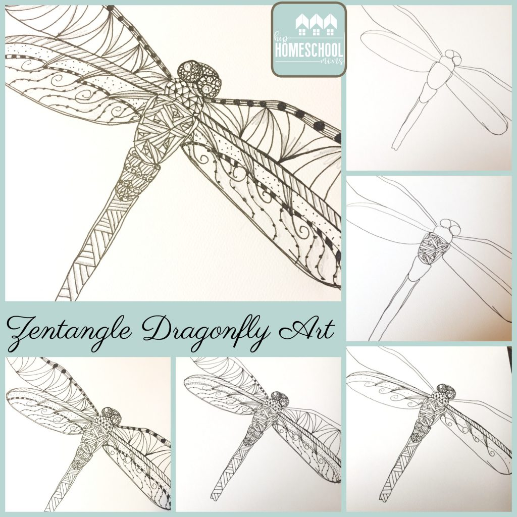 Zentangle Dragonfly Art Tutorial | Hip Homeschool Moms