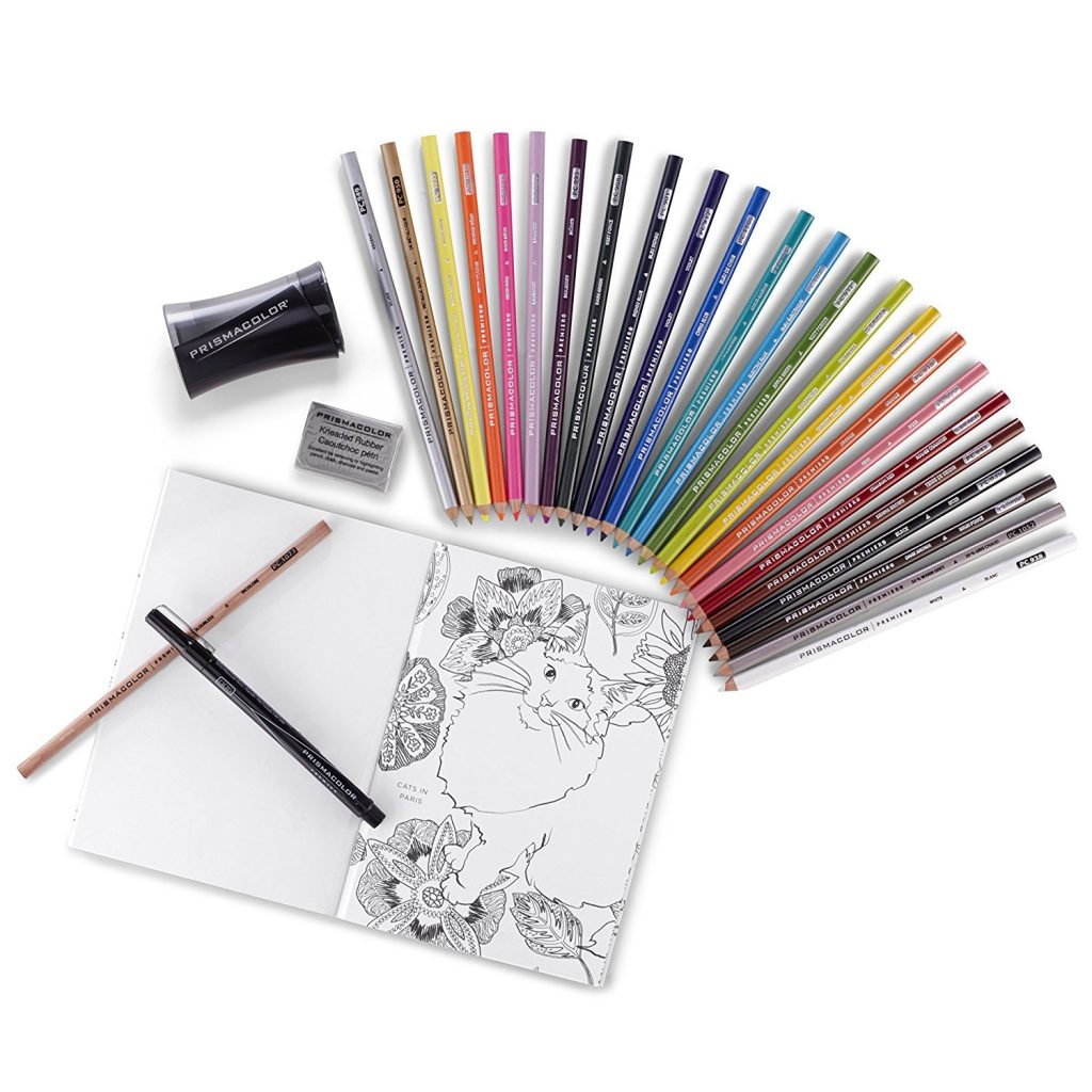 LIGHTNING DEAL ALERT Prismacolor Premier Pencils Adult Coloring Kit With Blender Art Marker