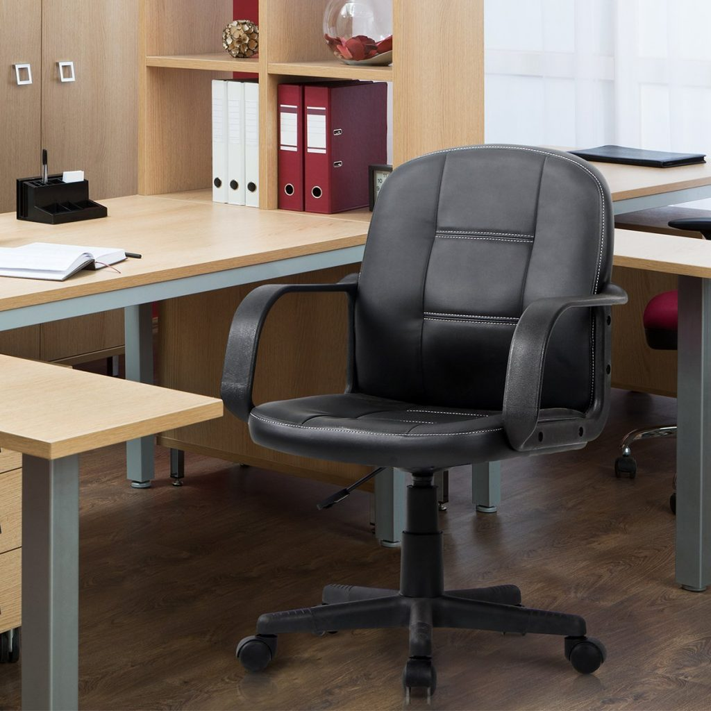 VIVA OFFICE Ergonomic Mid Back Office Chair, Bonded Leather Computer Task  Chair Number Of Stars: 3.9 Out Of 5.