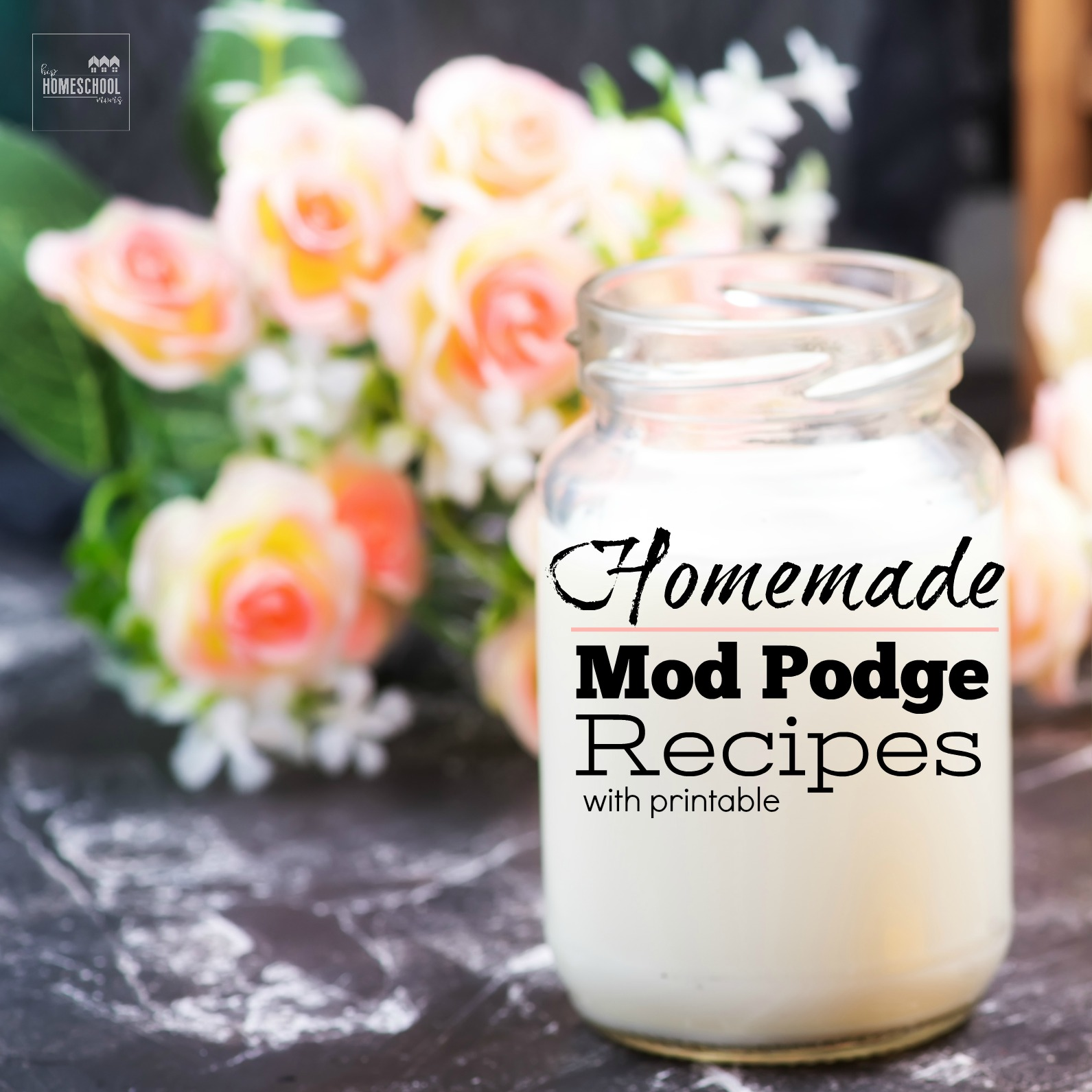 Homemade mod podge recipes with printable hip for Mod podge recipe