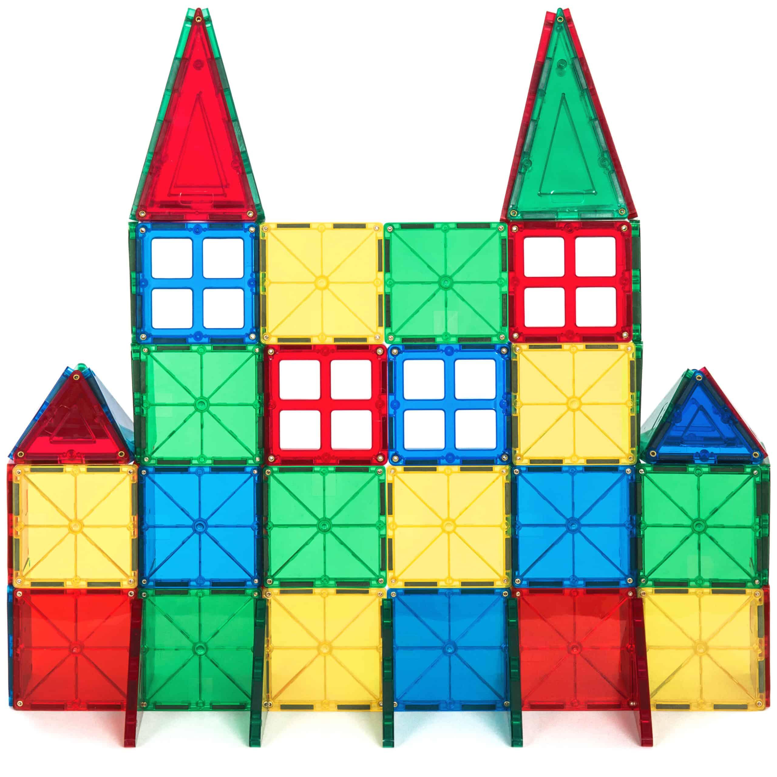 Deal Alert 32 Piece Multi Colors Magnetic Blocks Tiles