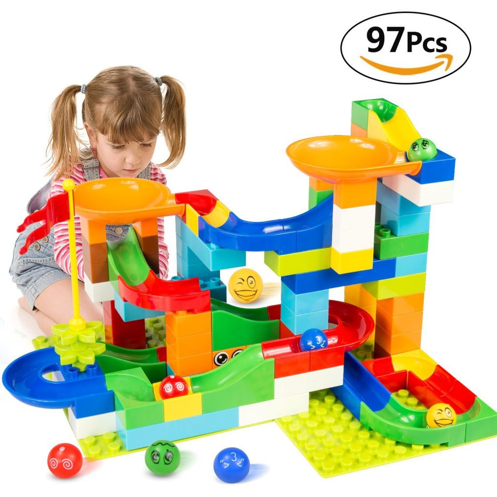 Marble Toys Blocks : Lightning deal alert battop marble run building blocks