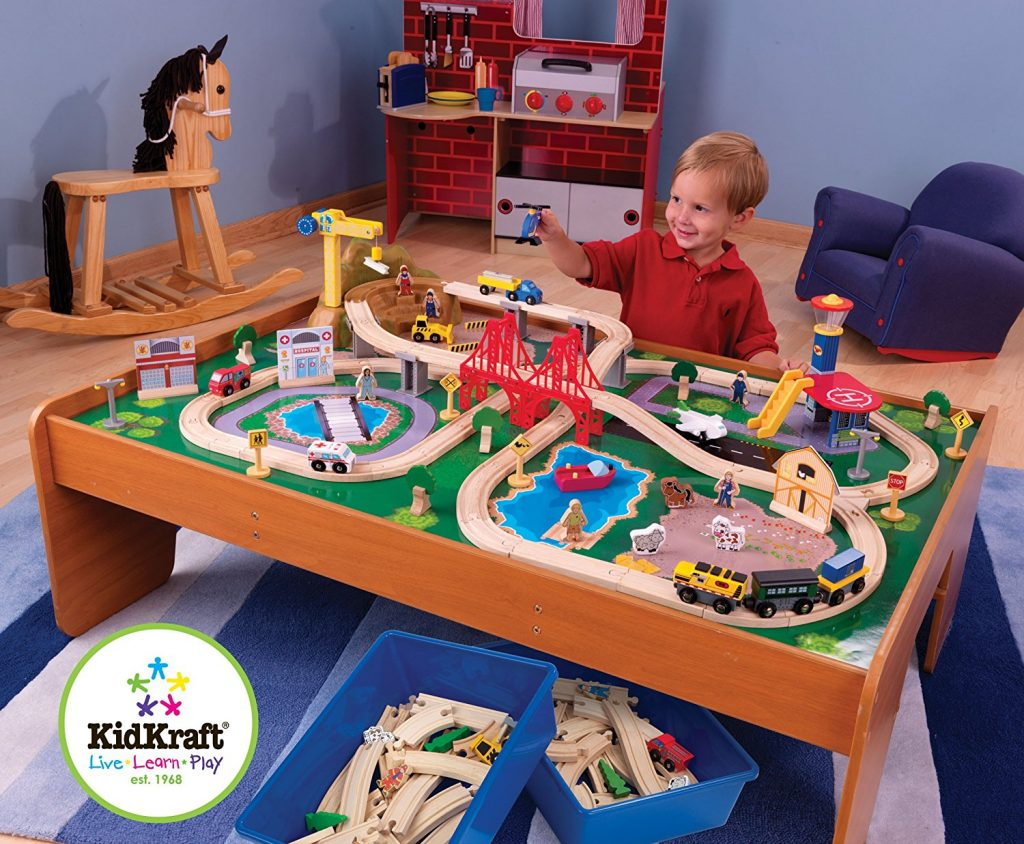 KidKraft Ride Around Train Set and Table \u2013 42% Number of stars 4.2 out of 5.  sc 1 st  Hip Homeschool Moms & LIGHTNING DEAL ALERT! KidKraft Ride Around Train Set and Table - 42 ...