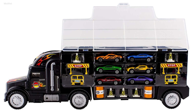 Toy Car Carrier : Lightning deal alert wolvol transport car carrier truck