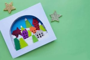 winter scene papercraft