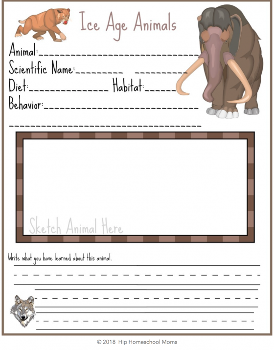 Ice Age Notebook Page